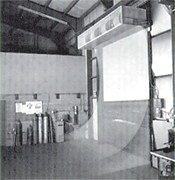 Industrial air curtain