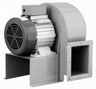 Industrial high pressure radial fan for material handling.